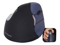 Evoluent VerticalMouse 4 Right Mus højrehåndet laser 6 knapper trådløs