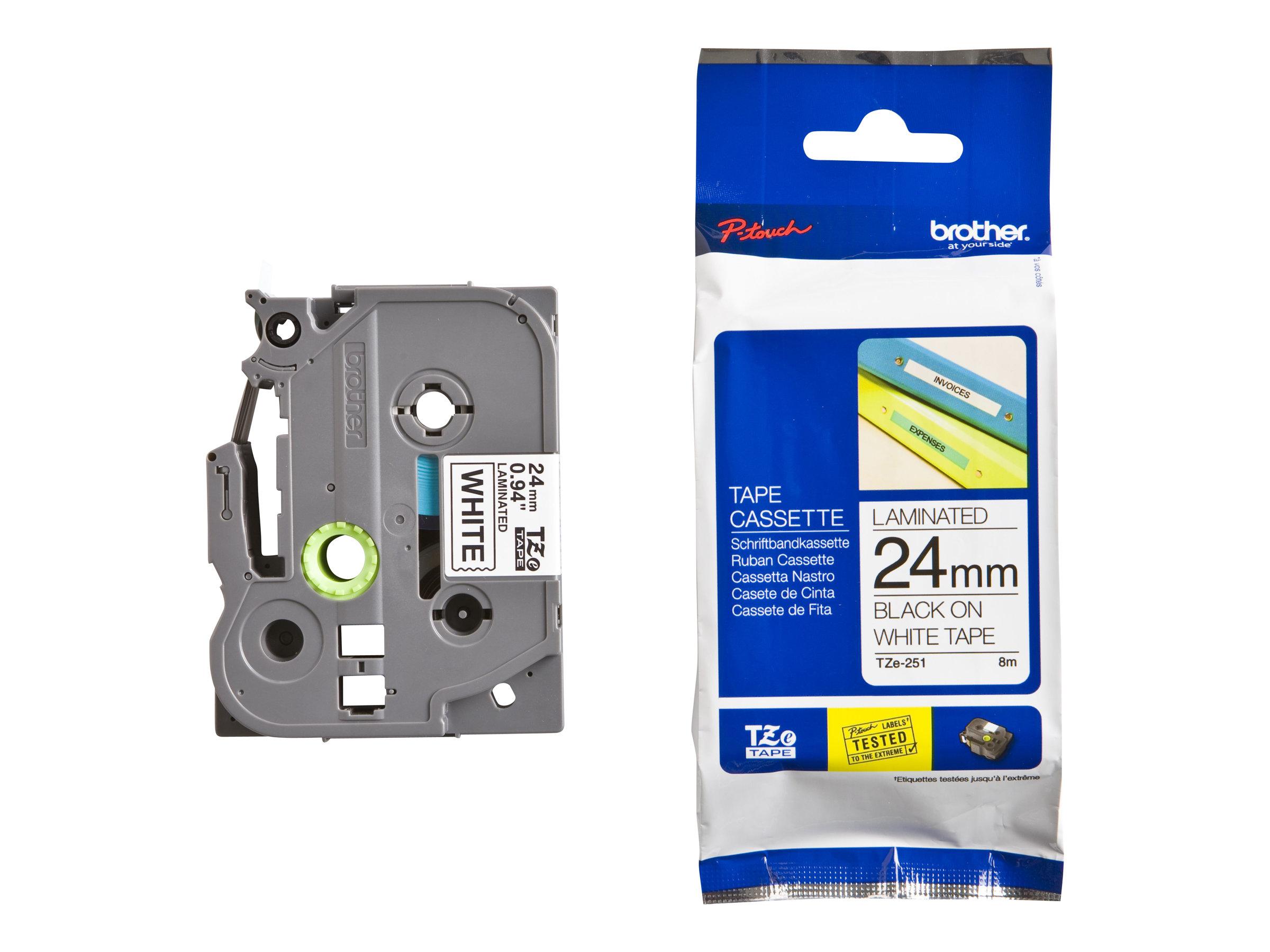 Brother TZe 24 mm - Ruban d'étiquettes auto-adhésives - Différents coloris