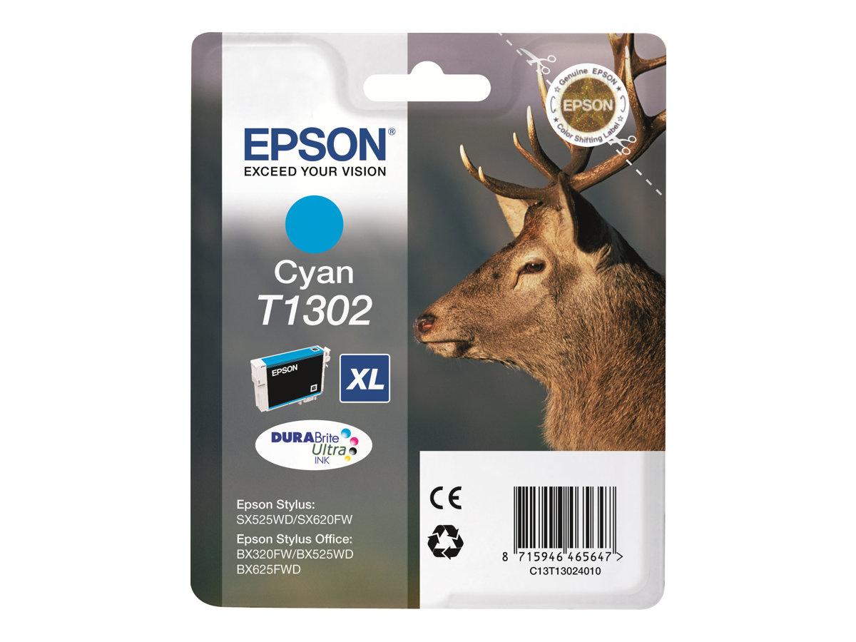 Epson T1302 - cyan - originale - cartouche d'encre