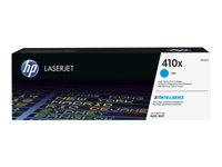 HP 410X - High Yield - cyan - original - LaserJet - toner cartridge (CF411X) - for Color LaserJet Pro M452, MFP M377, MFP M477
