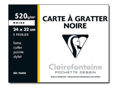 Clairefontaine - carte grattoir