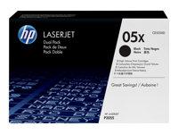 HP 05X - Paquete de 2 - Alto rendimiento