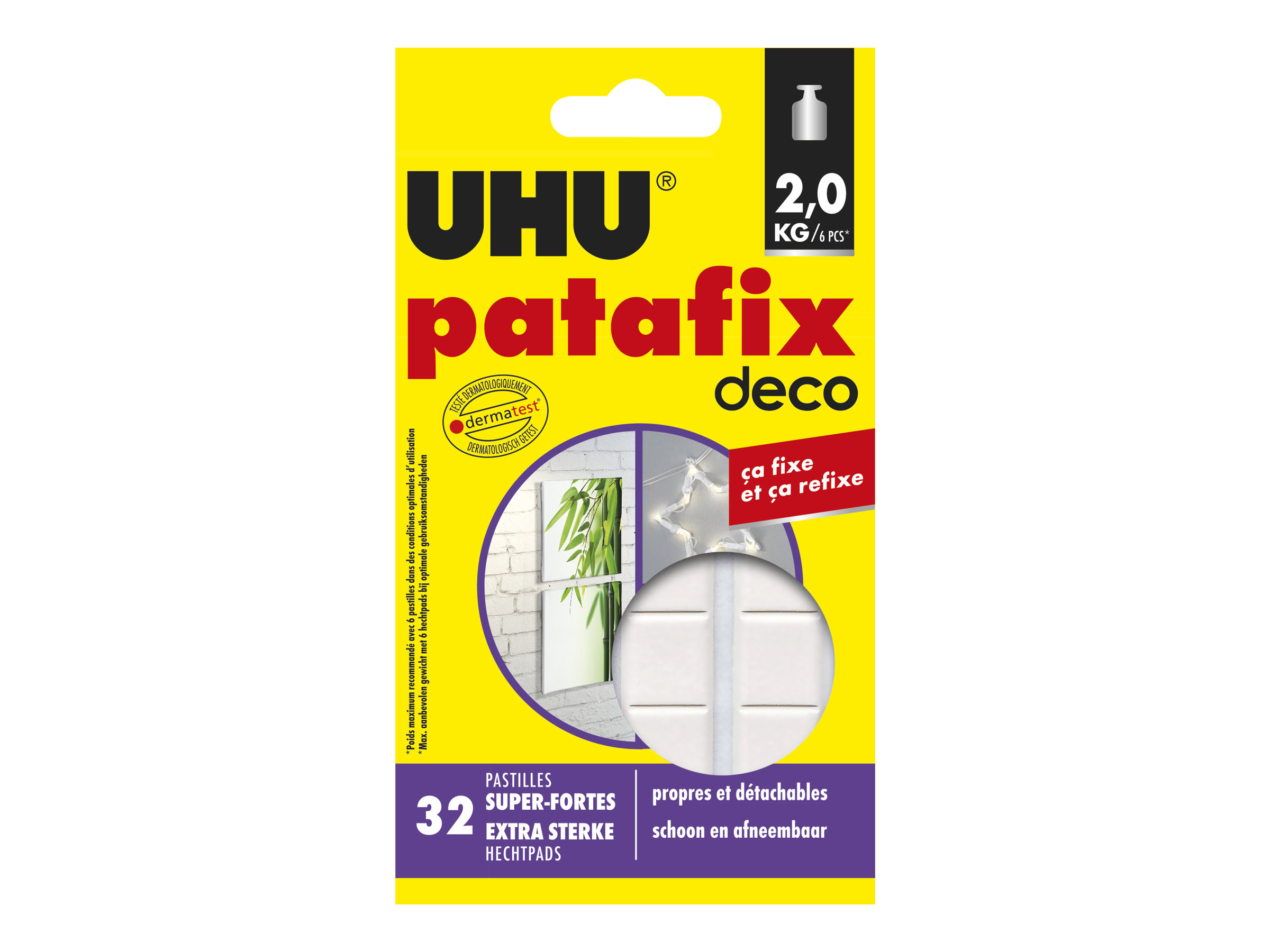 UHU patafix homedeco - adhésif de montage