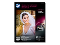 HP Premium Plus - Glossy - 11.5 mil - 5 in x 7 in - 300 g/m² - 80 lbs - 60 sheet(s) photo paper - for Envy 5055, Photo 7855; Officejet 5255; PageWide Pro 477; Photosmart B110, Wireless B110