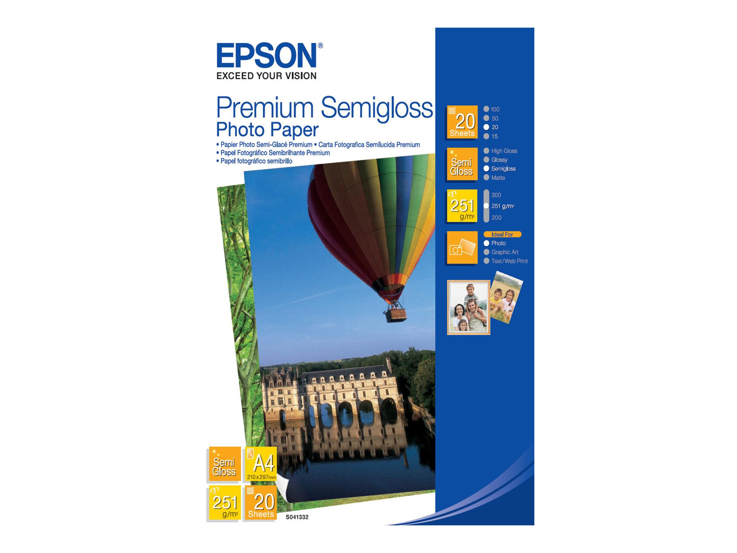 EPSON PREMIUM SEMIGLOSS PHOTO PAPER SEMIBRILLANTE