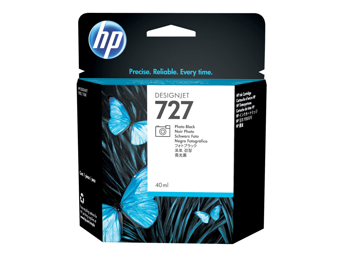 HP 727 - 40 ml - noir photo - originale - cartouche d'encre