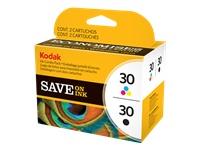 Kodak Ink Combo Pack - 2-pack - black, color (cyan, magenta, yellow) - original - ink cartridge - fo