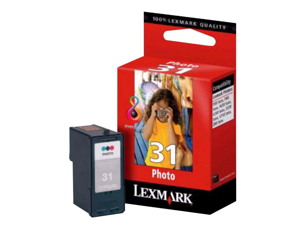 Lexmark Cartridge No. 31 - couleur (cyan, magenta, jaune) - originale - cartouche d'impression (photo)