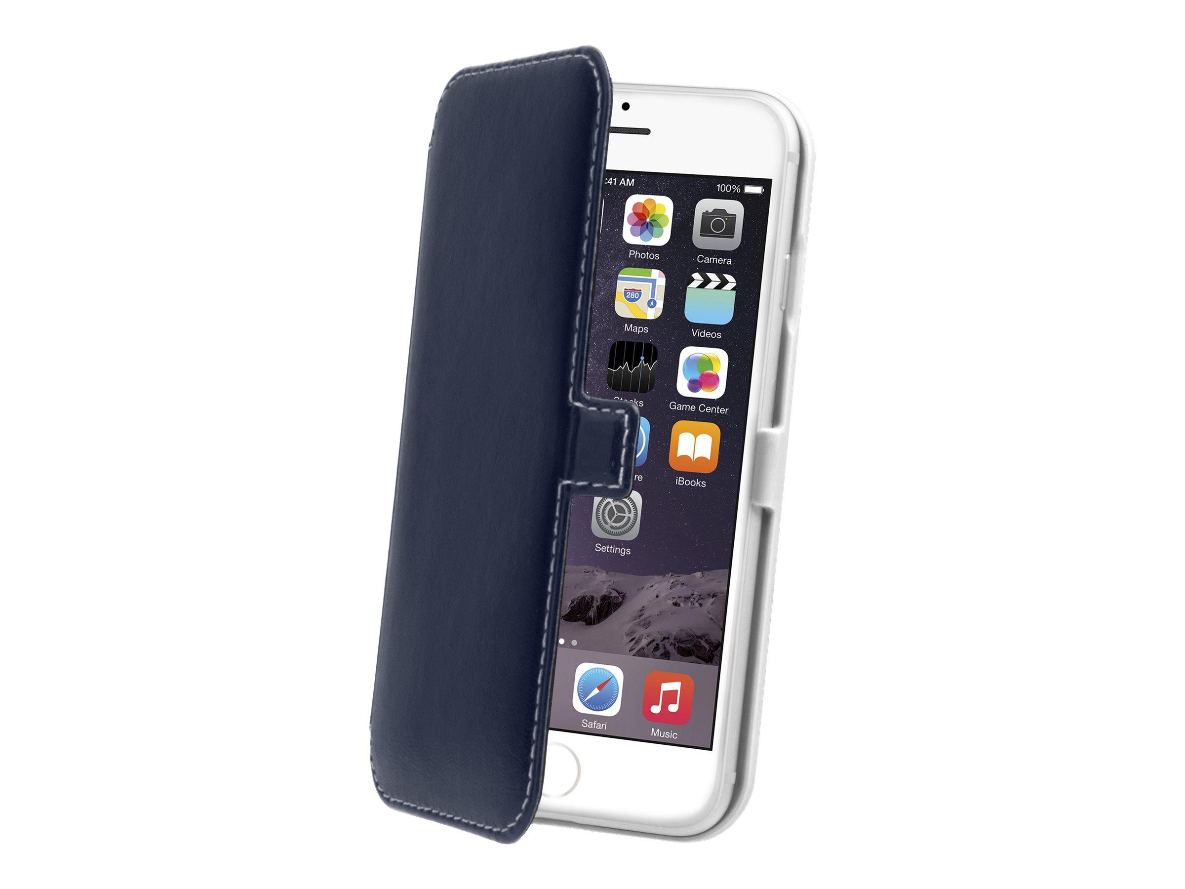 Muvit - Protection à rabat pour iPhone 6 Plus - bleu