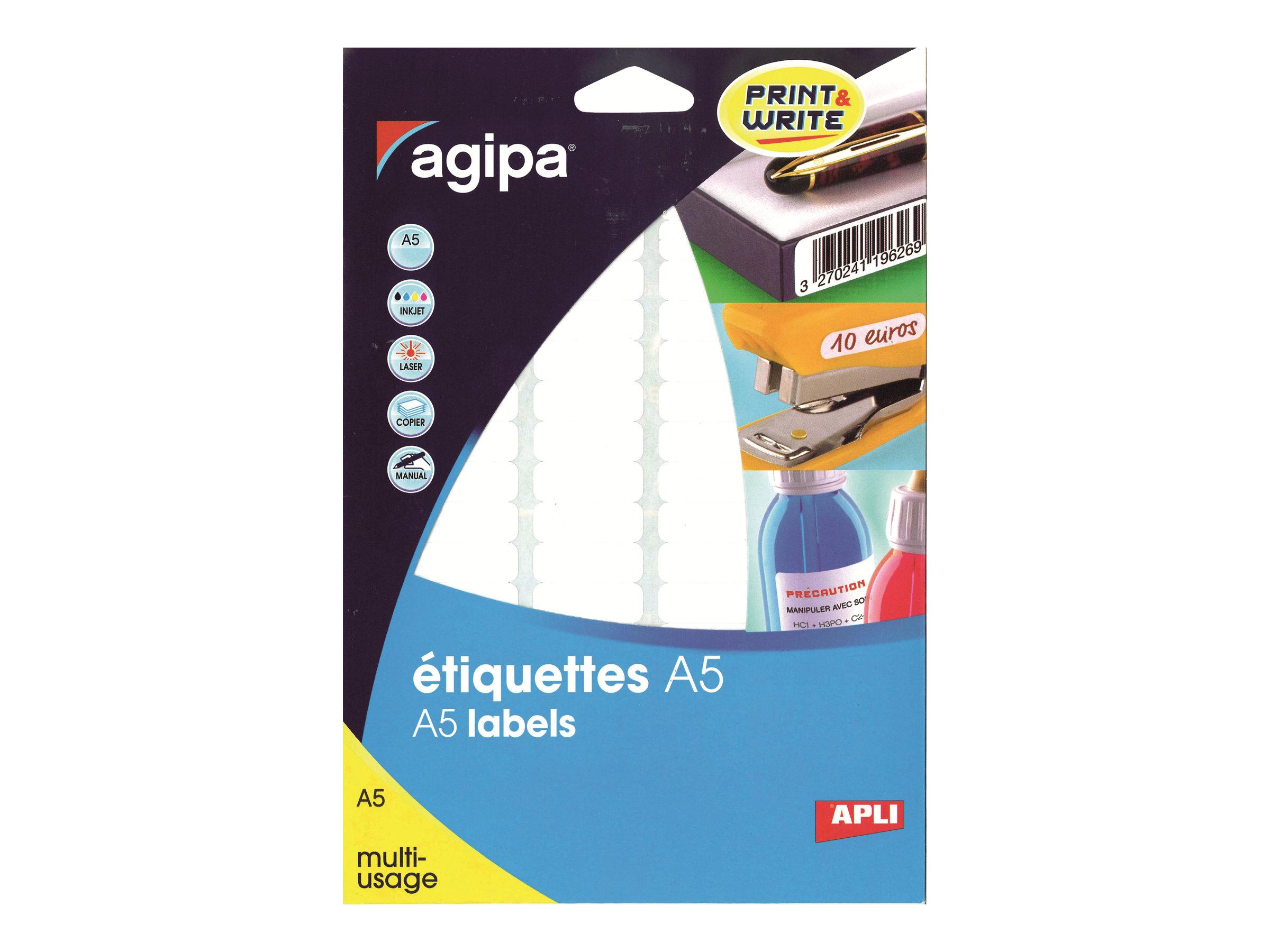 APLI PAPER - Étiquettes adhésives permanentes - 192 feuille(s)