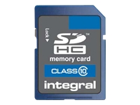 Integral - carte mémoire flash - 4 Go - SDHC
