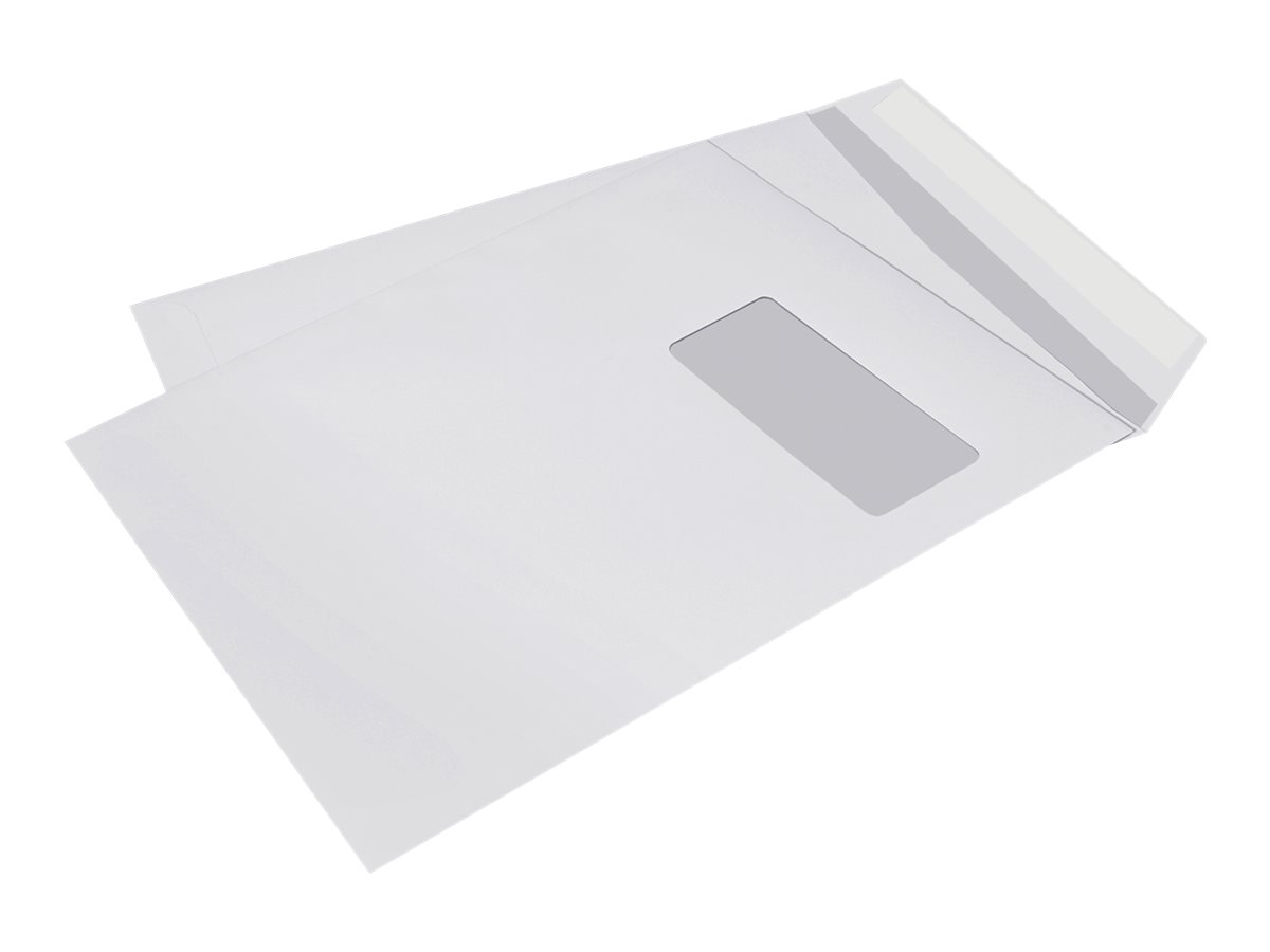 La Couronne - 250 Enveloppes - 229 x 324 mm - 1 fenêtre - avec bande (auto-adhésif)
