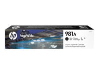 HP 981A - 106 ml - black - original - PageWide - ink cartridge - for PageWide Enterprise Color MFP 586; PageWide Managed Color E55650