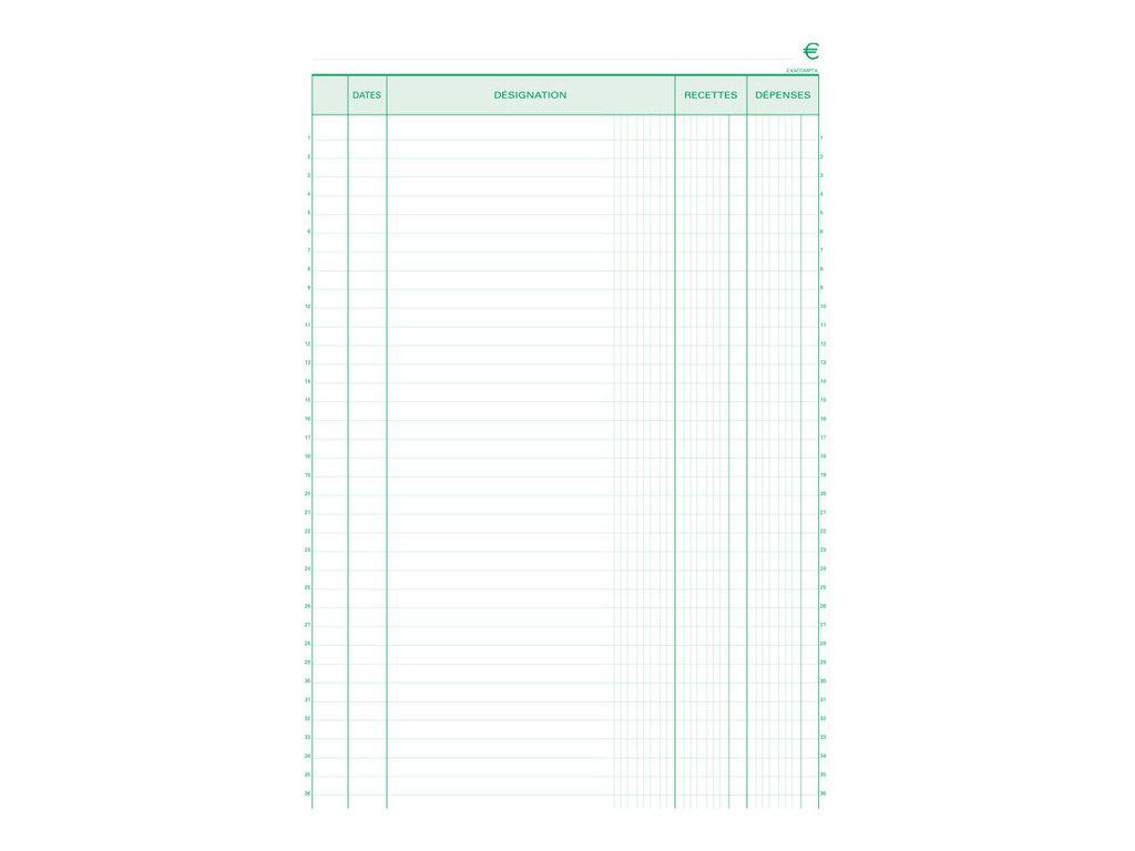 Exacompta - Manifold de reçus - 50 feuilles - paysage - en double - à l'unité ou en lot