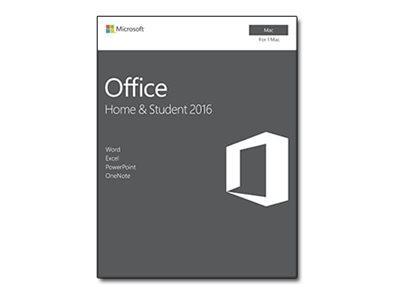 Microsoft Office for Mac Home and Student 2016 - Krabicové balení - nekomerční - bez médií, P2 - Mac - angličtina - Eurozóna