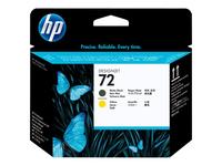 HP 72 - jaune, noir mat - tête d'impression
