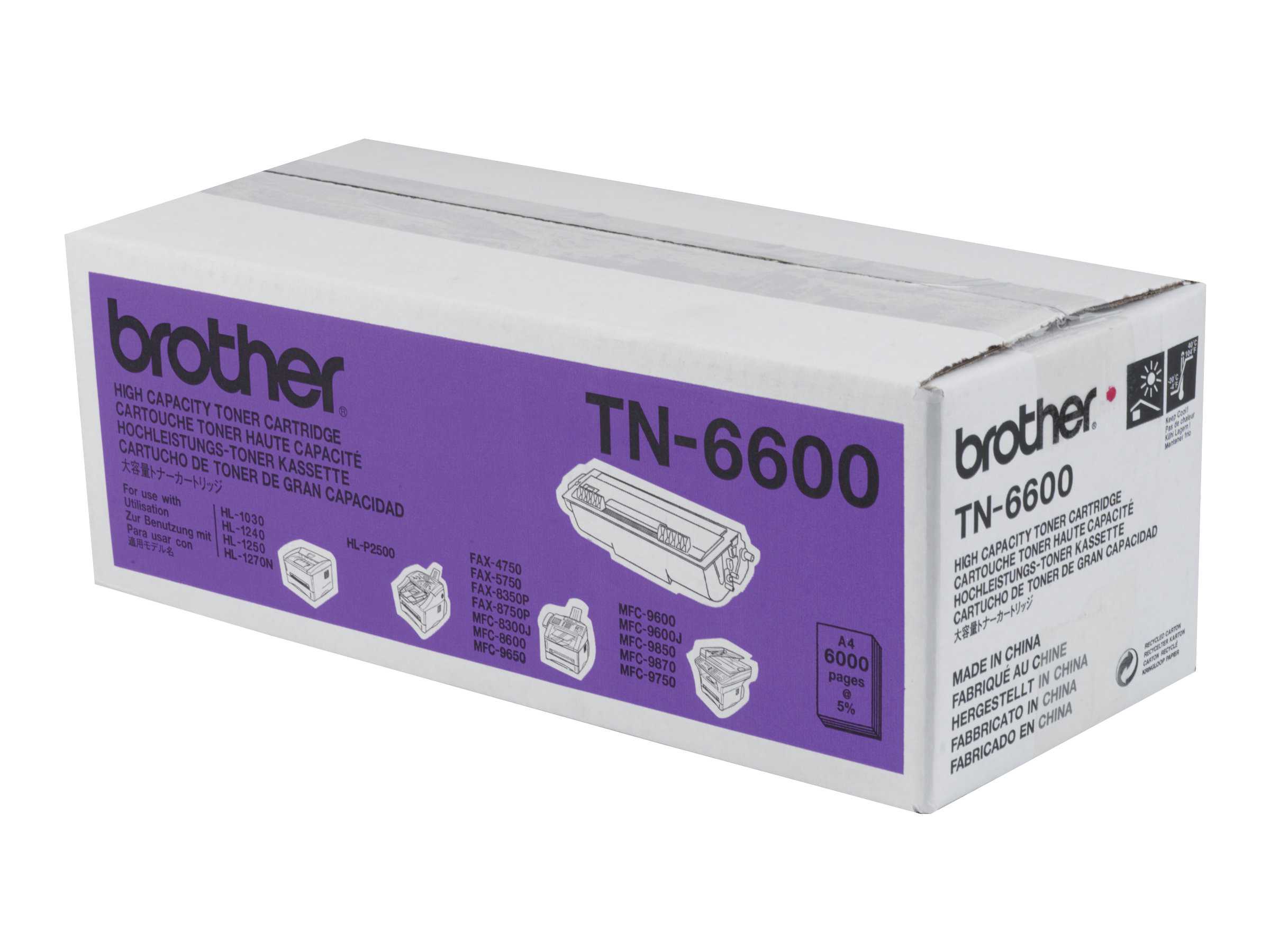 Brother TN-6600 - noir - originale - cartouche de toner