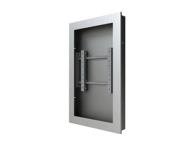 "Peerless-AV Wall Kiosk Enclosure KIP647-S - Mounting kit ( equipment enclosure ) for LCD / plasma panel - silver powder coat - screen size: 47"" - wall-mountable"