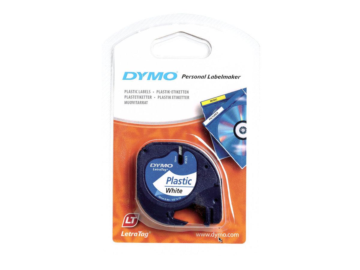 DYMO LetraTAG - Ruban d'étiquettes auto-adhésives - 12 mm - Différents coloris