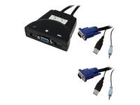 MCL Samar CAS-262MU - commutateur écran-clavier-souris/audio/USB - 2 ports - Ordinateur de bureau
