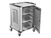 HP 32U Essential Charging Cart - Cart (charge only) for 32 notebooks (open architecture) - lockable - screen size: up to 15