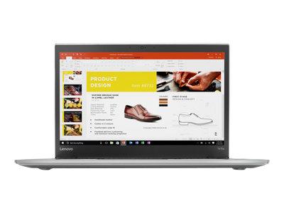"Lenovo ThinkPad T470s 20HF - Core i5 7200U / 2.5 GHz - Win 10 Pro 64-bit - 8 GB RAM - 180 GB SSD TCG Opal Encryption 2, NVMe - 14"" IPS 2560 x 1440 (WQHD) - HD Graphics 620 - Wi-Fi, Bluetooth - WWAN upgradable - silver"