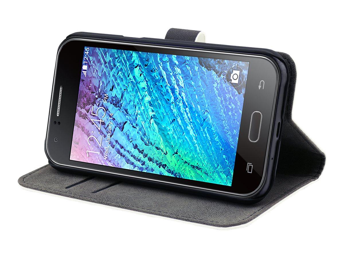 Muvit Slim S Folio - Protection à rabat pour Samsung Galaxy J1 - blanc