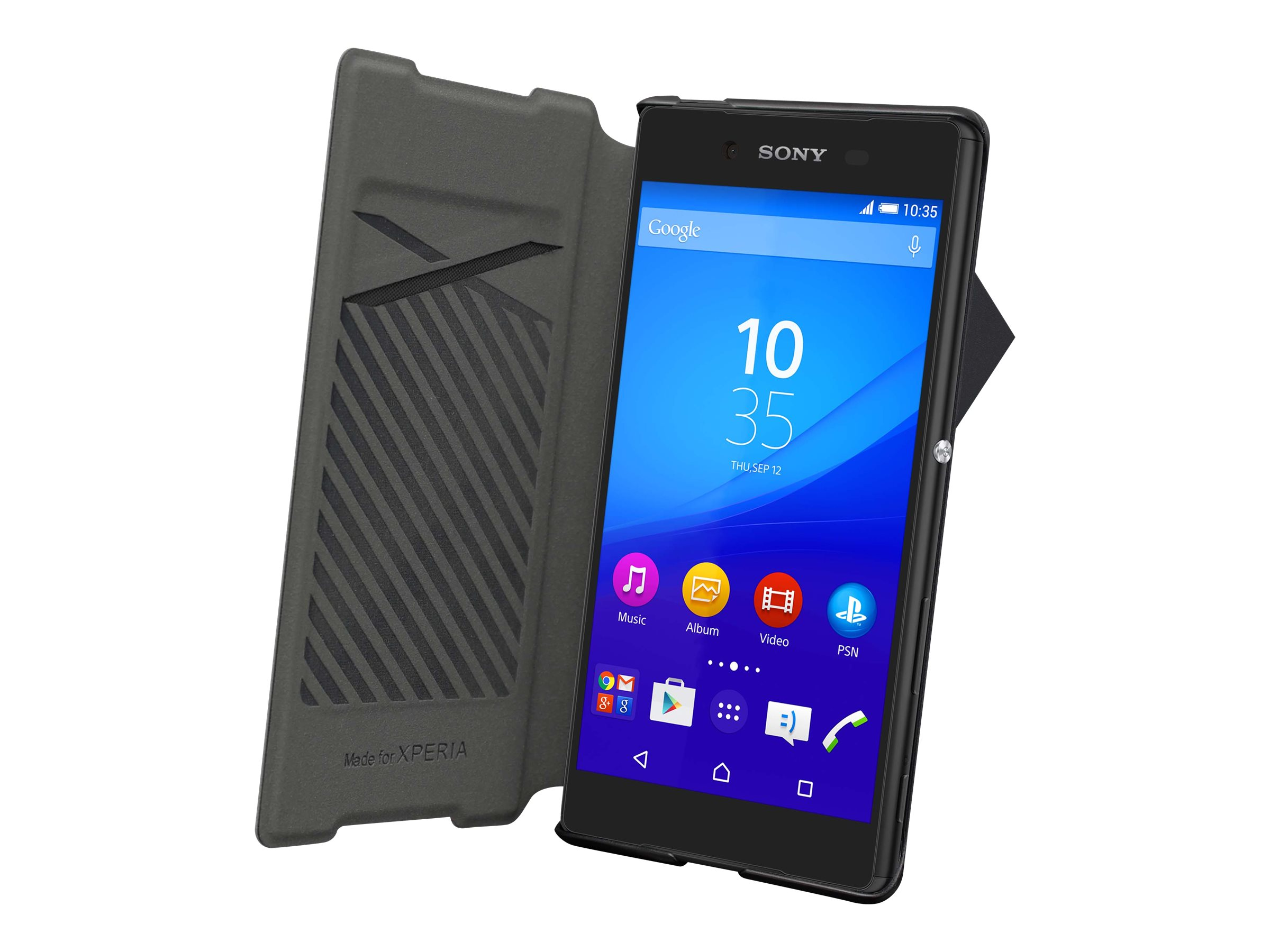 Muvit MFX easy folio - Protection à rabat pour Sony XPERIA Z5 - noir, blanc