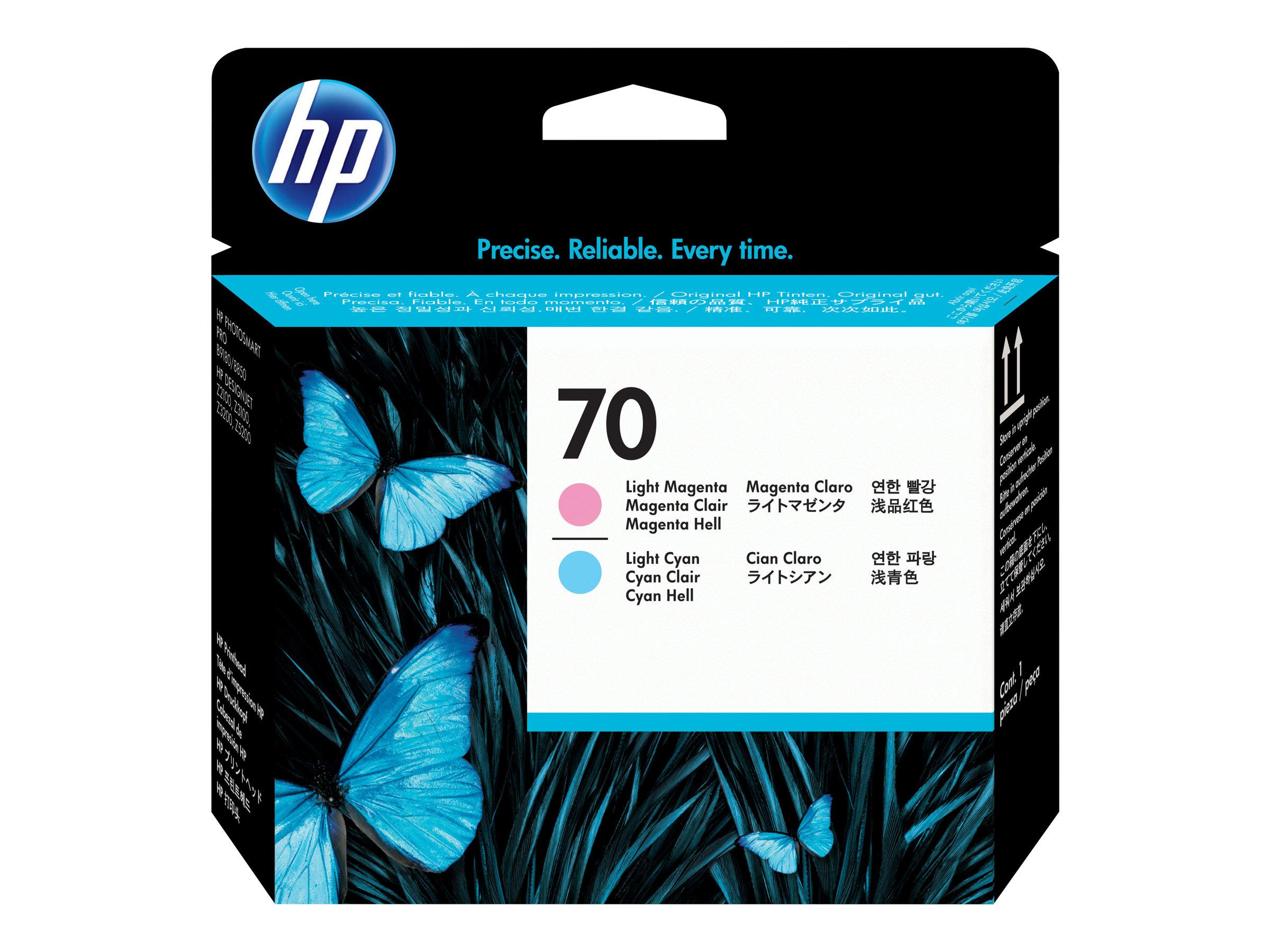 HP 70 - magenta clair, cyan clair - tête d'impression