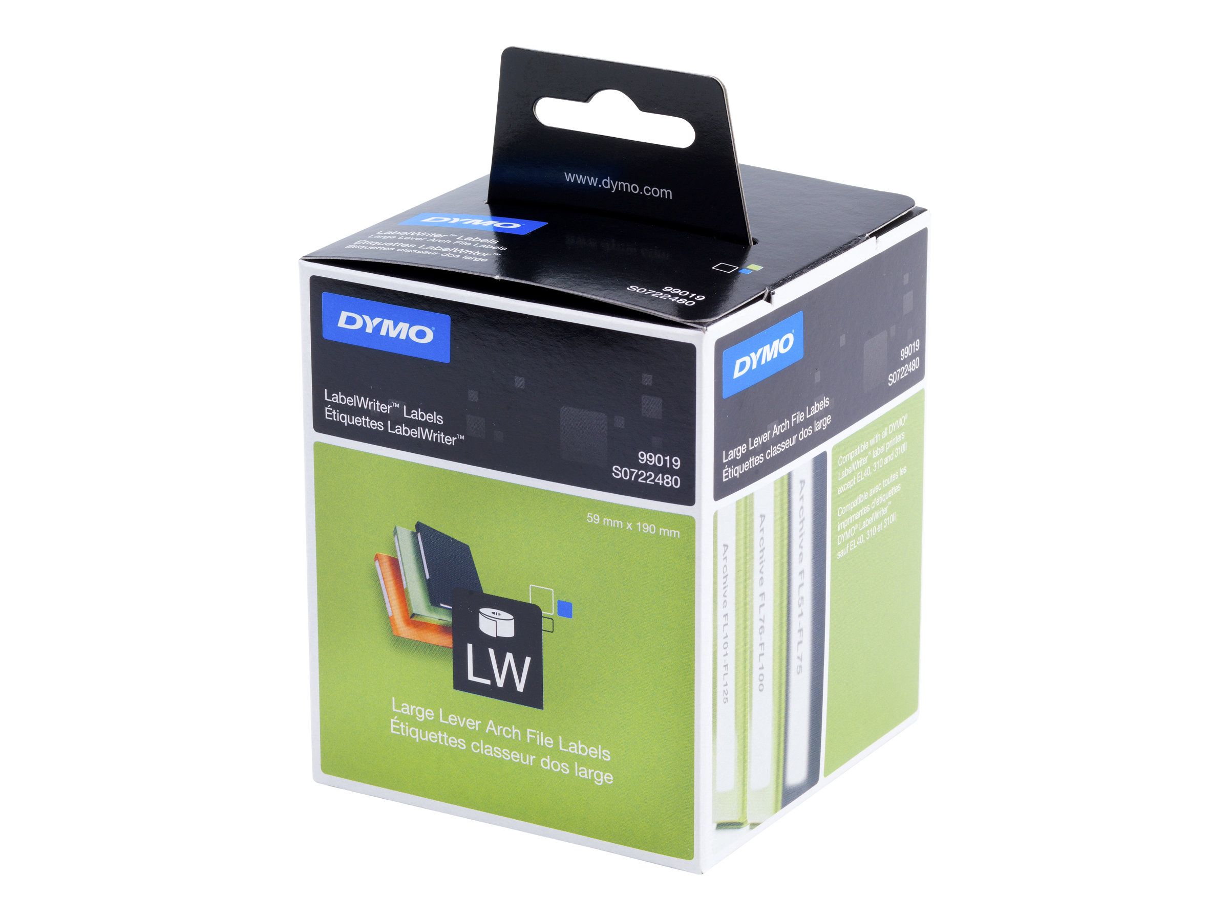 DYMO LabelWriter LAF Labels Large - étiquettes pour classeurs à levier - 110 étiquette(s)