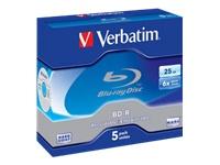 Verbatim - BD-R x 5 - 25 Go - support de stockage