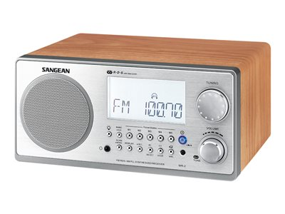Sangean WR-2 - Radio tuner - 7 Watt (total) - walnut