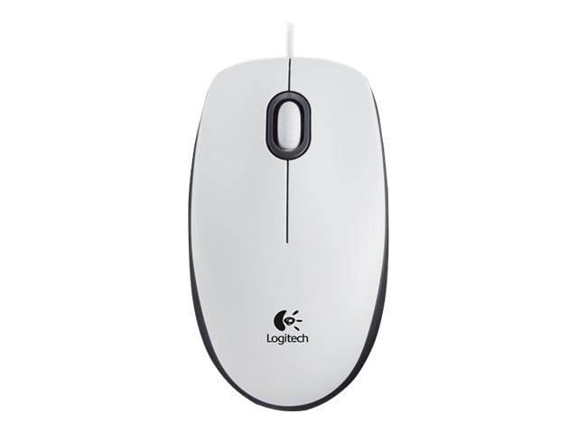 Logitech M100 - souris - USB - blanc