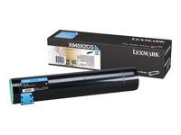 LEXMARK, Toner/cyan 22000sh f X940e 945e