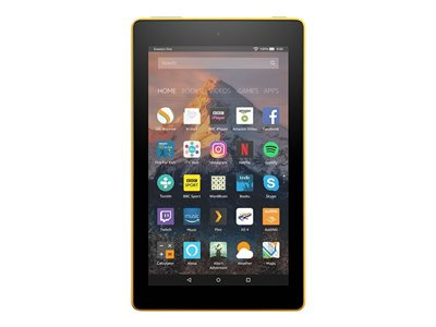 """Amazon Kindle Fire 7 - Tablet - 16 GB - 7"""" IPS (1024 x 600) - microSD slot - canary yellow - with Special Offers"""
