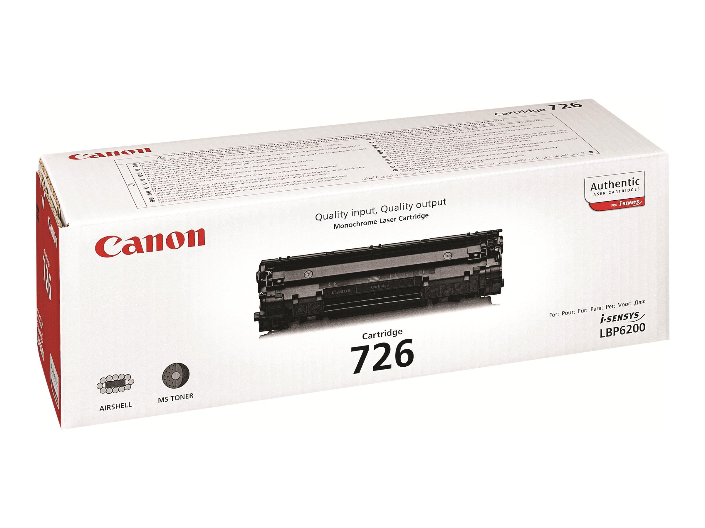 Canon CRG-726 - noir - originale - cartouche de toner