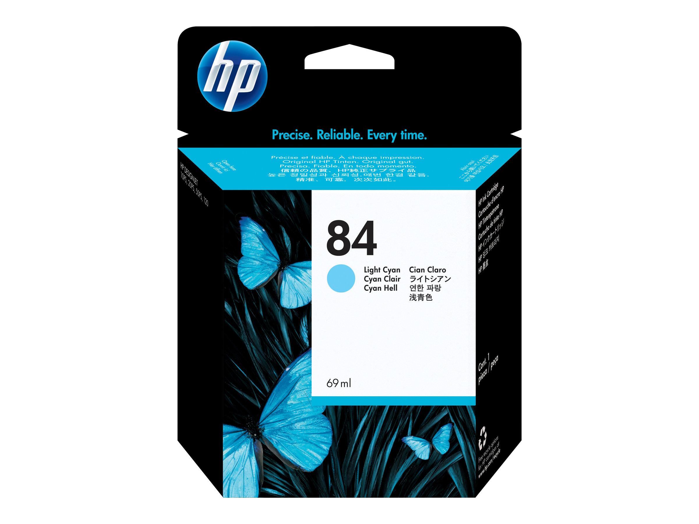 HP 84 - cyan clair - originale - cartouche d'encre