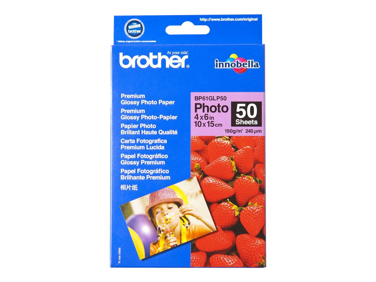 Brother BP 61GLP50 Premium Glossy Photo Paper - papier photo - 50 feuille(s)
