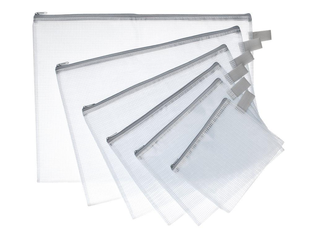 JPC - Pochette à fermeture éclair - 175 x 210 mm - Semi- transparent