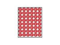 Apli Agipa - 192 Adhésifs décoratifs - étiquettes remise -50% - rose pastel