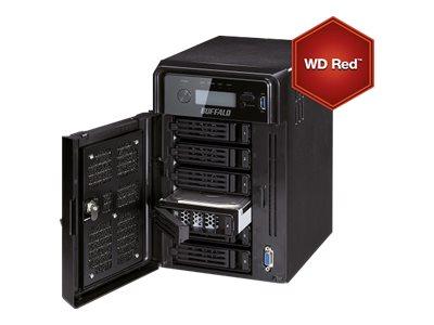 BUFFALO TeraStation 5600 DWR - Server NAS - 6 zásuvky - 24 TB - SATA 3Gb/s - HDD 4 TB x 6 - RAID 0, 1, 5, 6, 10, 50, JBOD, 51 - RAM 2 GB - Gigabit Ethernet - iSCSI - s 3 roky služby 24hodinová výměna