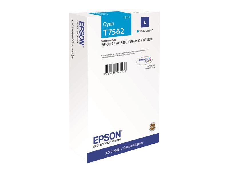 Epson T7562 - taille L - cyan - originale - cartouche d'encre