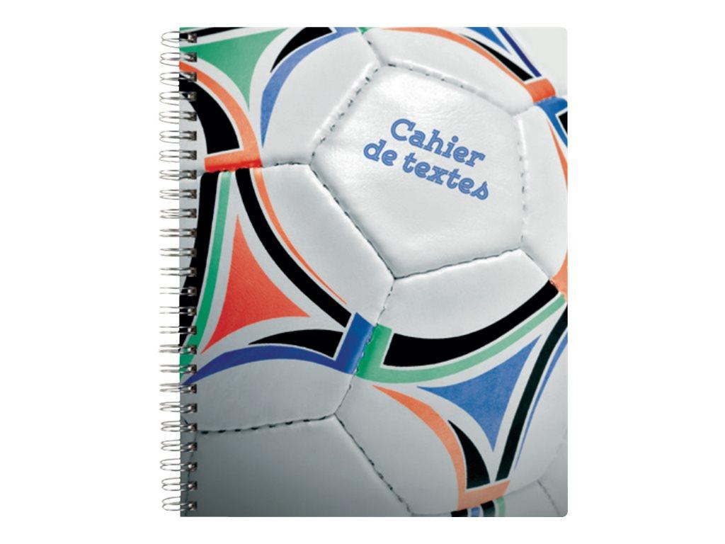 Exacompta Sports - Cahier de texte - A5 + - 17 x 22 cm - disponible dans différentes couleurs
