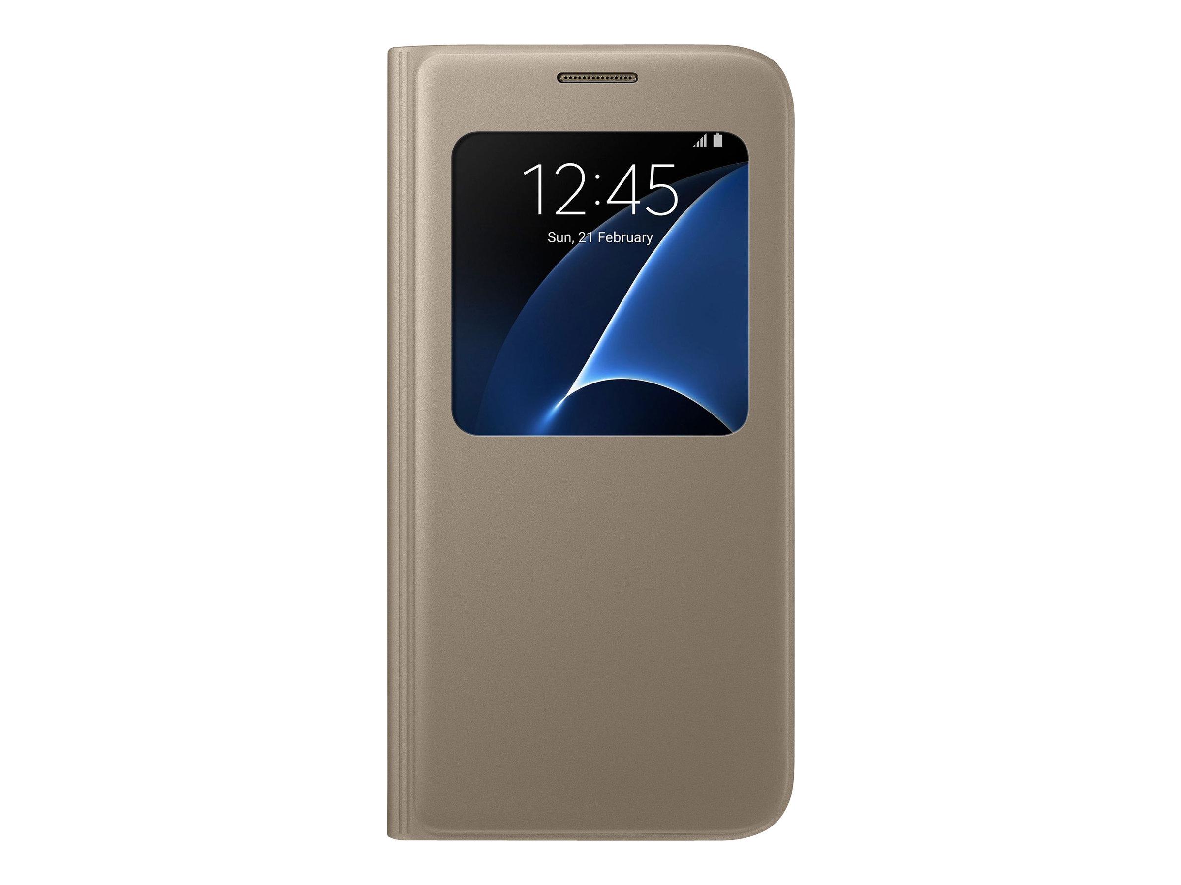 Samsung S View Cover EF-CG930 - Protection à rabat pour Galaxy S7 - différents coloris