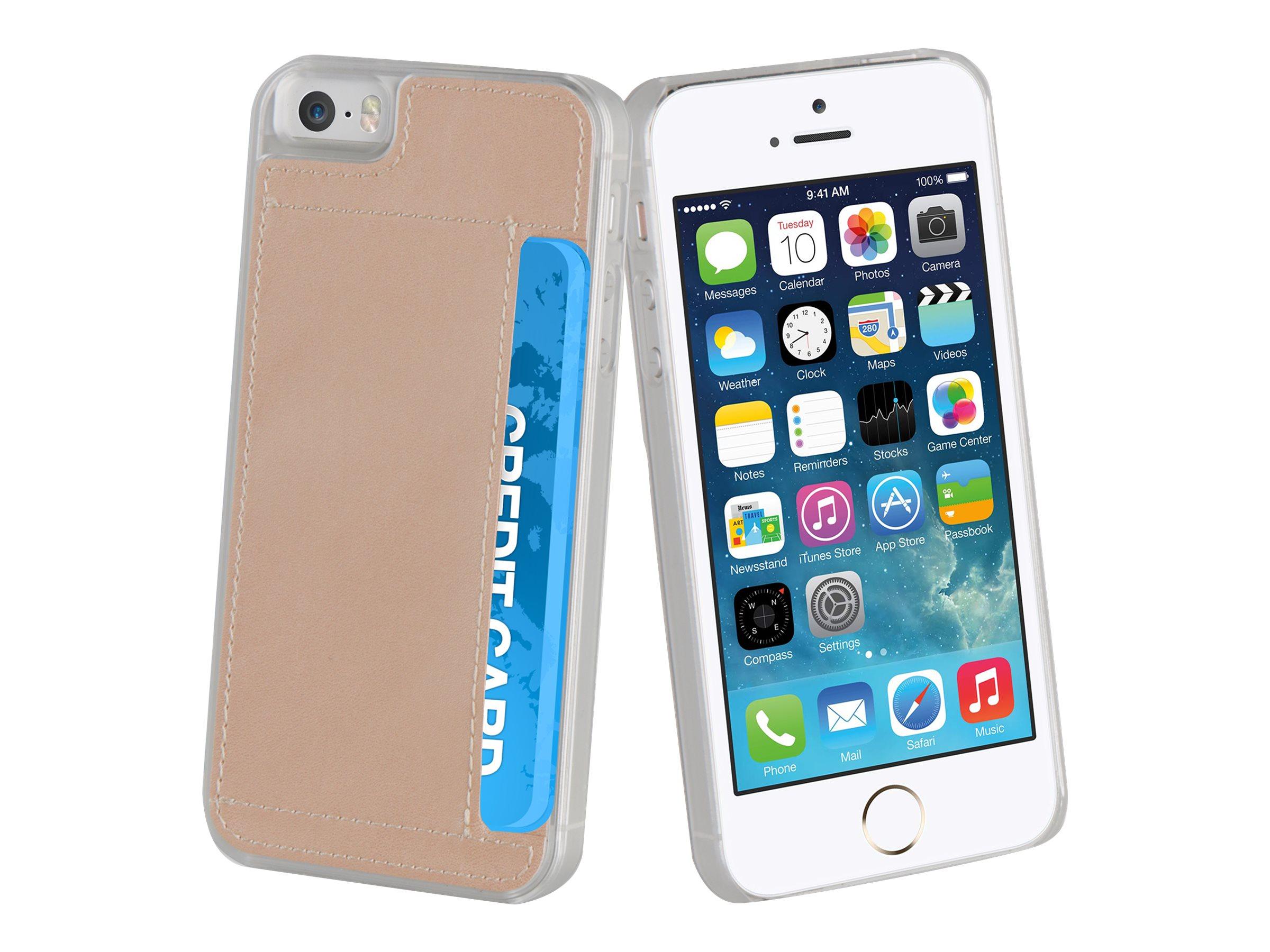 Muvit Crystal Case - Coque de protection pour iPhone 5, 5s, SE - or