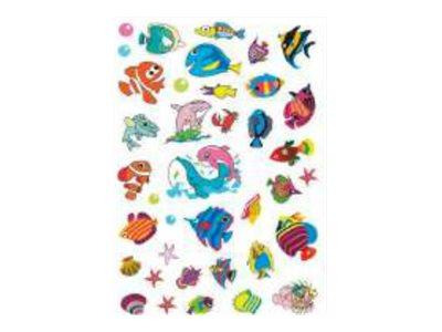 Oberthur - 74 Gomettes - poisson