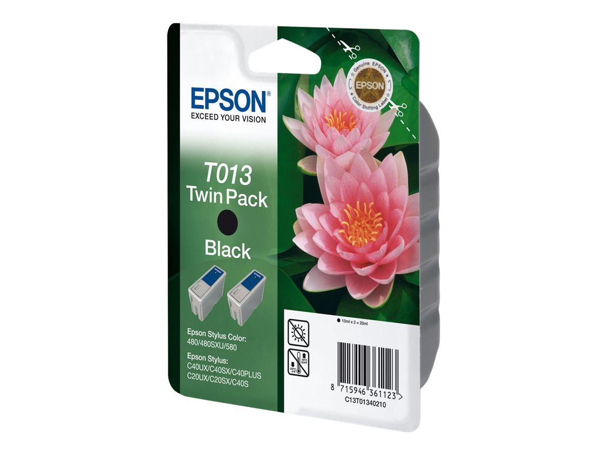 Epson T013 Double Pack - pack de 2 - noir - originale - cartouche d'encre