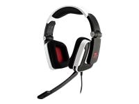 Tt eSPORTS SHOCK Headset fuld størrelse kabling skinnende hvid