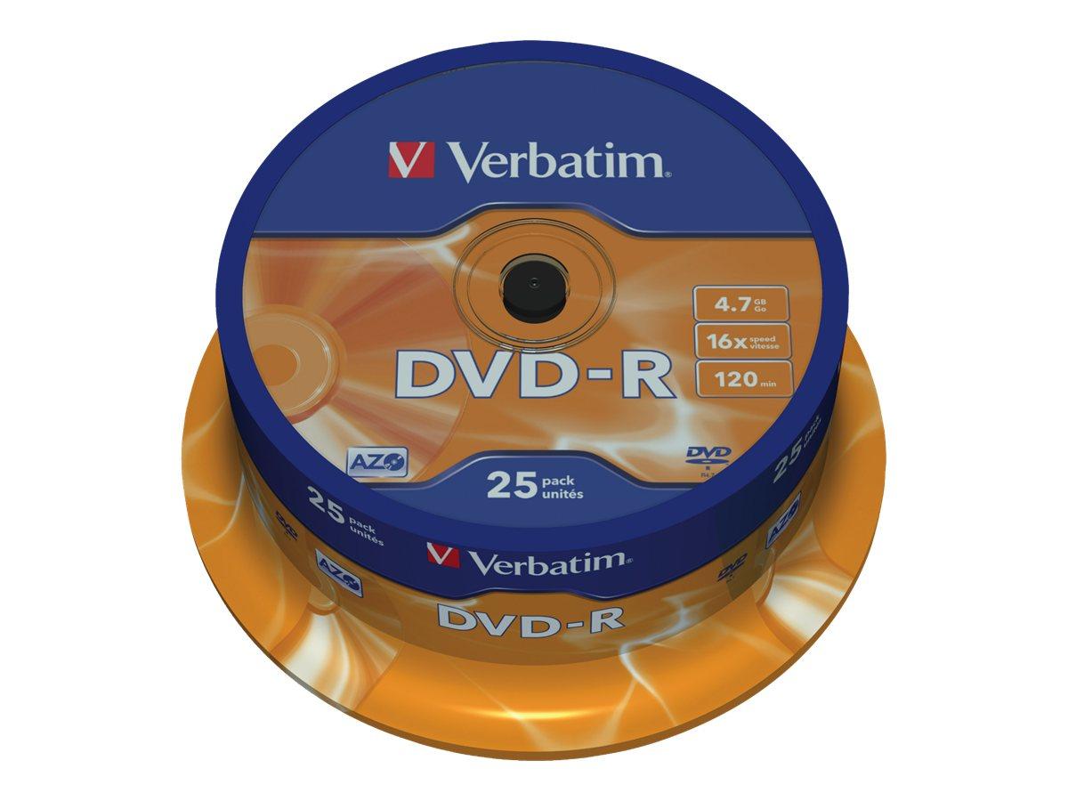 Verbatim - DVD-R x 25 - 4.7 Go - support de stockage