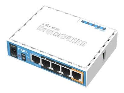 MikroTik RouterBOARD hAP ac lite RB952UI-5AC2ND - Bezdrátový access point - 100Mb LAN - 802.11a/b/g/n/ac - Duální pásmo - Napájení stejnosměrným proudem